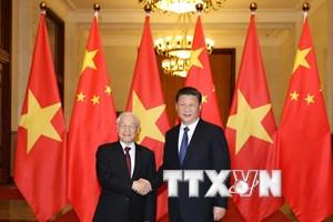 Lãnh đạo Đảng gửi Điện mừng lãnh đạo Đảng Cộng sản Trung Quốc