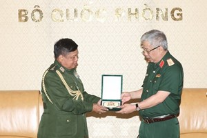 Việt Nam coi trọng quan hệ hợp tác quốc phòng với Myanmar