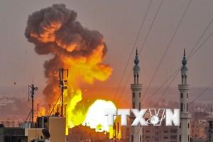 Israel nã pháo vào các mục tiêu quân sự của Hamas tại dải Gaza