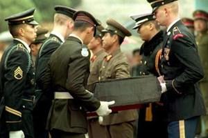 Mỹ triển khai máy bay tới tiếp nhận hài cốt binh lính ở Triều Tiên