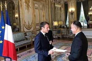 Đại sứ Nguyễn Thiệp trình Thư ủy nhiệm lên Tổng thống Pháp Macron