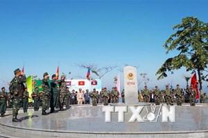 Lễ chào cột mốc và chứng kiến tuần tra chung Việt-Lào-Campuchia