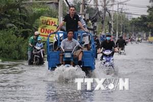 Triều cường sắp đạt đỉnh, nguy cơ ngập lụt khu vực Nam Bộ