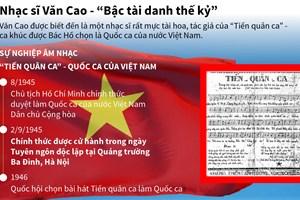 [Infographics] Nhạc sỹ Văn Cao - ''Bậc tài danh thế kỷ''