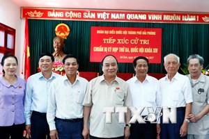 Thủ tướng Nguyễn Xuân Phúc tiếp xúc cử tri tại quận Đồ Sơn