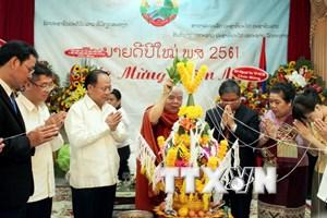 Lãnh đạo Thành phố Hồ Chí Minh chúc Tết cổ truyền Bunpimay của Lào
