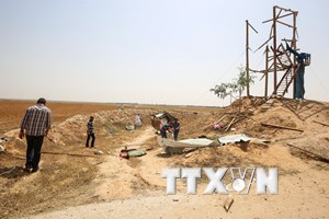 Xe tăng Israel nã đạn vào trạm quan sát ở phía Nam Dải Gaza