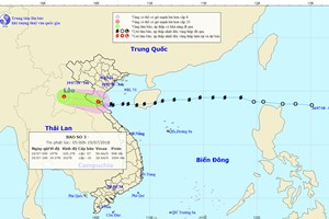 Bão số 3 suy yếu thành áp thấp nhiệt đới, Bắc-Bắc Trung Bộ vẫn mưa to