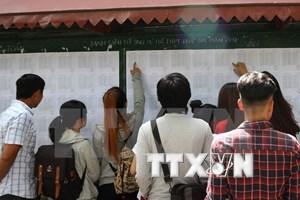 Các trường đại học đồng loạt công bố điểm chuẩn xét tuyển đợt 1