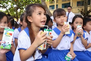 Hà Nội gia hạn thời gian chào thầu chương trình sữa học đường