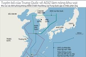 """Nhật, Hàn tập trận hải quân trong """"ADIZ của Trung Quốc"""""""