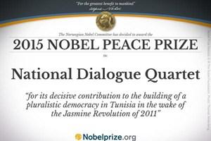 Nhóm Bộ Tứ Đối thoại Tunisia giành giải Nobel Hòa bình 2015
