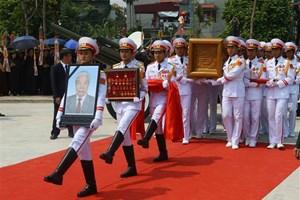 Cập nhật trực tiếp diễn biến Lễ quốc tang nguyên Tổng bí thư Đỗ Mười