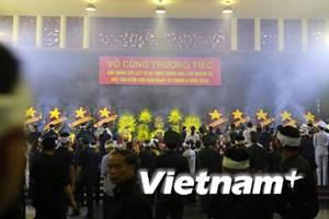 [Photo] Hình ảnh xúc động tại Lễ viếng, truy điệu 9 phi công CASA-212