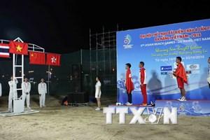Đoàn Thể thao Việt Nam giữ ngôi đầu bảng đại hội thể thao bãi biển