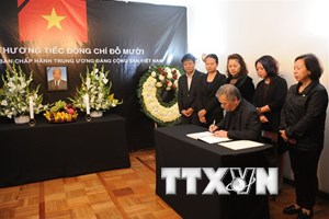 Lễ viếng nguyên Tổng Bí thư Đỗ Mười tại Mexico và Mozambique