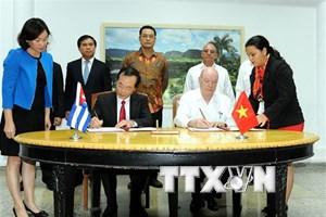 Bế mạc kỳ họp thứ 36 của Ủy ban Liên chính phủ Việt Nam-Cuba