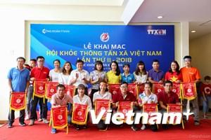 Gần 100 vận động viên thi đấu tại Hội khỏe Thông tấn xã Việt Nam 2018