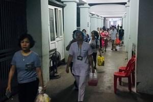 Bệnh viện Nhi Trung ương chủ động sơ tán bệnh nhân gần khu vực cháy