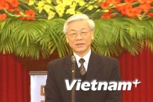 Điện mừng Tổng Bí thư Ban Chấp hành TW Đảng