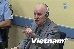 Tướng Ratko Mladic xuất hiện tại tòa án La Hay