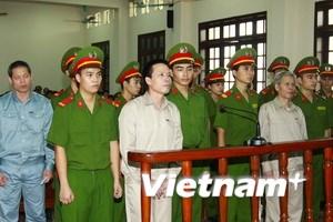 Kết thúc phiên tòa sơ thẩm xử vụ án ở Tiên Lãng