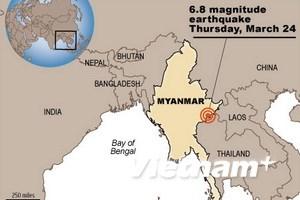 Ít nhất 10 người chết do vụ động đất tại Myanmar