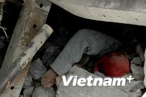 Nổ mìn phá đá cứu nạn nhân vụ lở núi ở Nghệ An