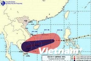 Bão số 11 áp sát bờ biển từ Bình Định-Khánh Hòa