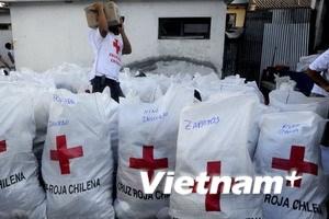 Quốc tế tích cực hỗ trợ Chile sau trận động đất
