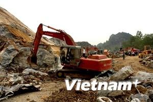 Sập mỏ đá ở Nghệ An: Đã tìm thấy 12 xác nạn nhân