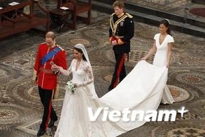 Bộ váy cưới của vợ hoàng tử Anh sẽ được trưng bày