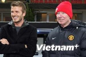 """Nạn nhân """"chiếc giầy bay"""" Beckham tri ân Sir Alex"""