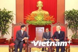 Tổng Bí thư Nguyễn Phú Trọng tiếp khách quốc tế