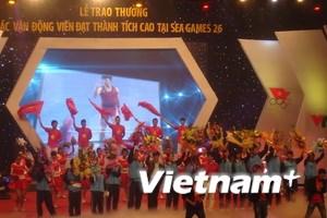 Trao thưởng vận động viên xuất sắc SEA Games 26