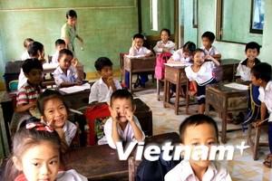 Phần lớn học sinh vùng lũ Hà Tĩnh đã đến trường