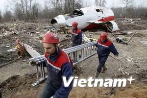 Tìm thấy hộp đen thứ ba máy bay Ba Lan gặp nạn