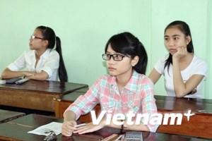 Hơn 200.000 thí sinh đã bắt đầu làm bài thi cao đẳng