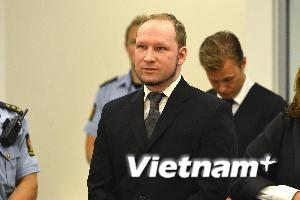 Sát thủ Na Uy Breivik bị tuyên án 21 năm tù giam