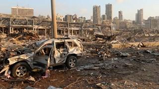 Khung cảnh tan hoang sau vụ nổ kinh hoàng ở thủ đô Beirut