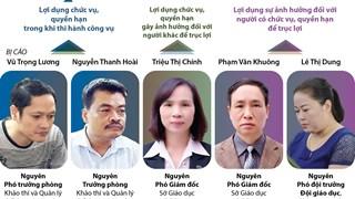 [Infographics] Xét xử sơ thẩm vụ án gian lận điểm thi tại Hà Giang