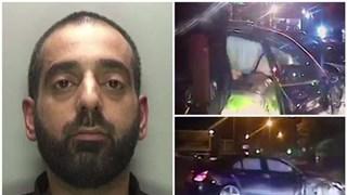 [Video] Xe Mercedes bị lật nhào khi đang chạy trốn cảnh sát