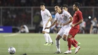 Đoàn Văn Hậu vui mừng sau bàn thắng tuyệt đẹp vào lưới U22 Indonesia