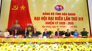 [Photo] Khai mạc Đại hội Đảng bộ tỉnh Hậu Giang lần thứ XIV