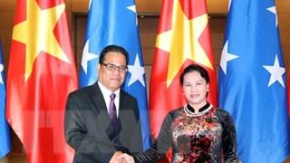 Chủ tịch Quốc hội Micronesia kết thúc chuyến thăm chính thức Việt Nam