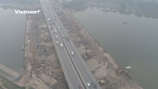 Toàn cảnh dự án cầu vượt qua hồ Linh Đàm trị giá 340 tỷ đồng