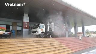 [Video] Phun khử khuẩn tại Bệnh viện Bệnh Nhiệt đới Trung ương 2