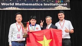 [Video] 32 học sinh Việt Nam giành giải toán quốc tế WMI 2019