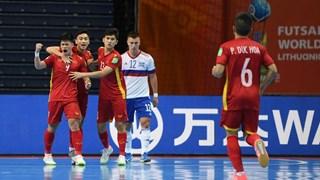 Đội tuyển Việt Nam ngẩng cao đầu rời Futsal World Cup 2021