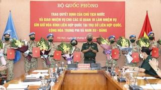 Thêm 10 sỹ quan Việt Nam tham gia gìn giữ hòa bình Liên hợp quốc